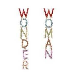 🌈2/$30 New Crystal Wonder Woman Drop Earrings